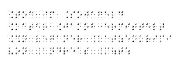 Tod im Sojafeld in Braille Vollschrift