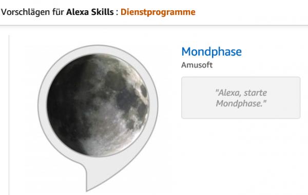 Alexa Skill Mondphase