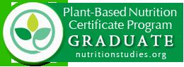 Plant based nutrition certificate program graduate